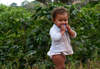 young child in El Junco